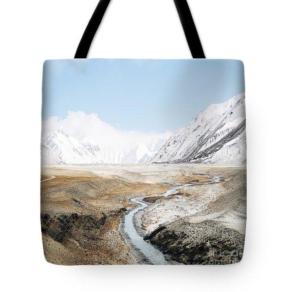 Tote Bag featuring the photograph Mount Everest by Setsiri Silapasuwanchai