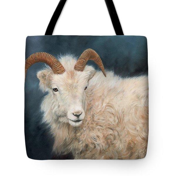 Mountain Goat Tote Bag by David Stribbling