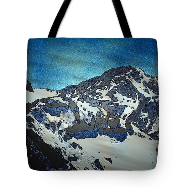 Tote Bag featuring the painting Mountain by Mark Taylor