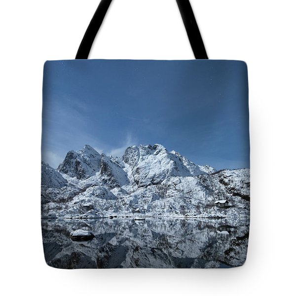 Mountain Reflection Tote Bag by Frank Olsen