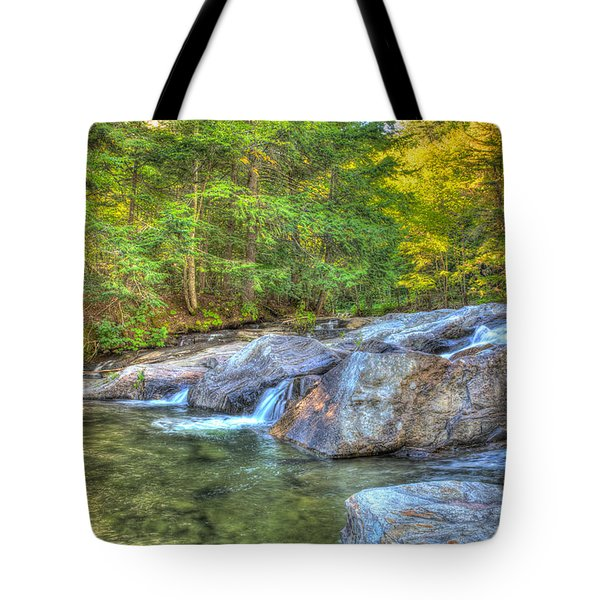 Mountain Stream Waterfalls Tote Bag