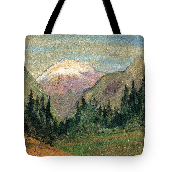 Mountain View Tote Bag by R Kyllo