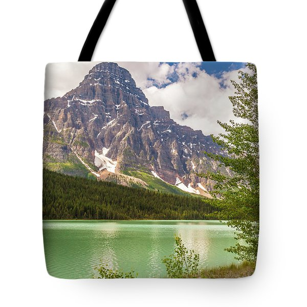 Tote Bag featuring the photograph Mt. Chephren by Mark Mille