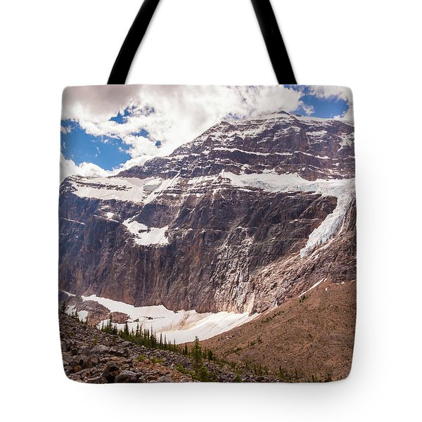 Tote Bag featuring the photograph Mt. Edith Cavell  by Mark Mille