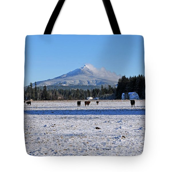 Mt. Pilchuck Tote Bag by Rebecca Parker