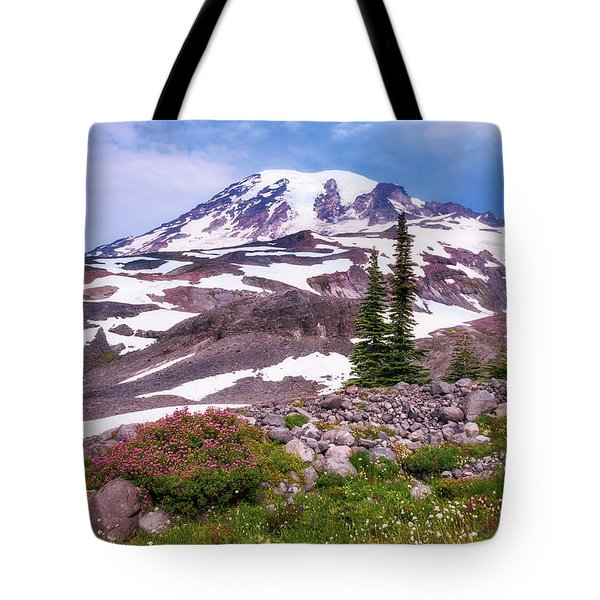Tote Bag featuring the photograph Mt Rainier by Sharon Seaward