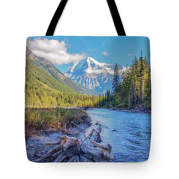 Tote Bag featuring the photograph Mt. Robson 2009 02 by Jim Dollar