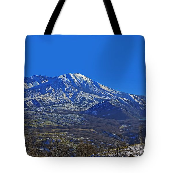 Tote Bag featuring the photograph Mt St Helens by Jack Moskovita