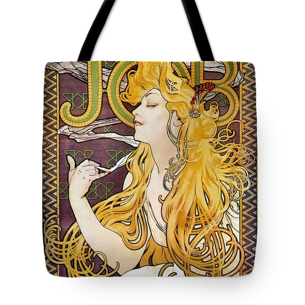 Mucha: Cigarette Papers Tote Bag by Granger