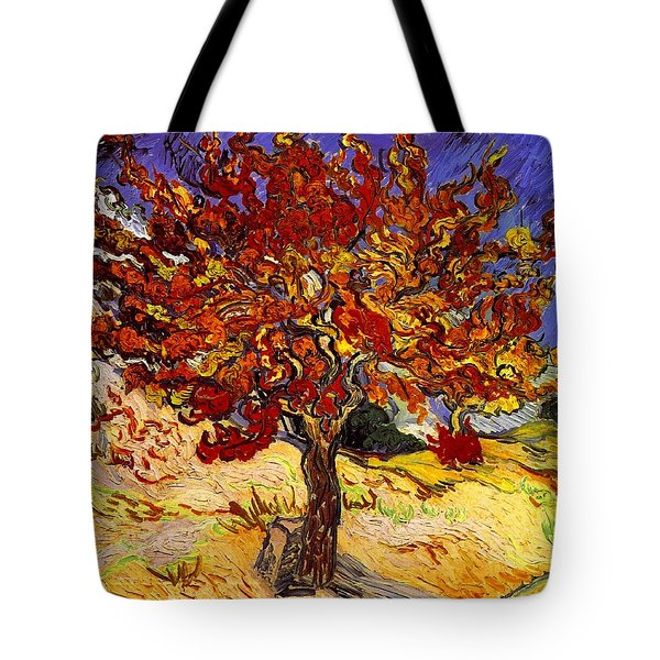 Tote Bag featuring the painting Mulberry Tree by Van Gogh