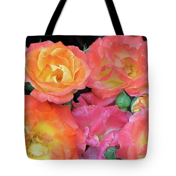 Multi-color Roses Tote Bag