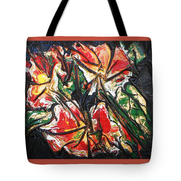 Multicolored Flowers Tote Bag