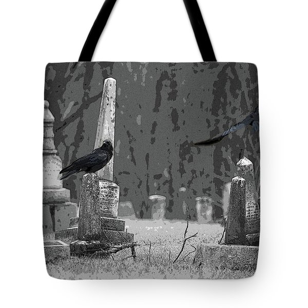 Murder Of Crows Tote Bag by Rowana Ray