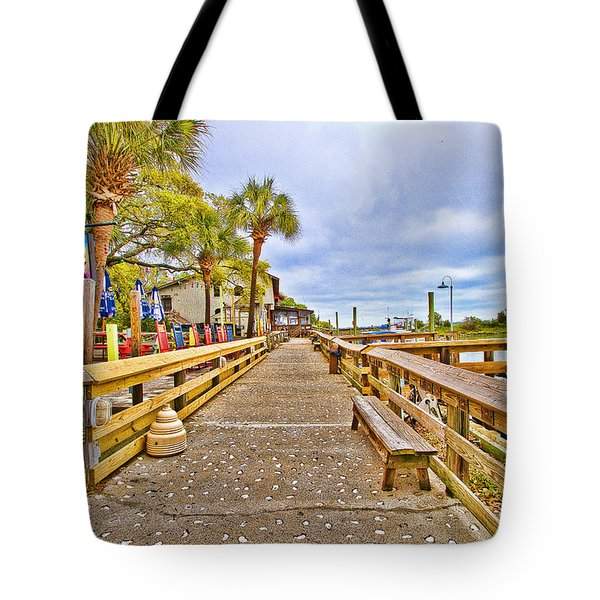 Murrells Inlet Marshwalk Tote Bag