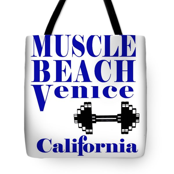 Tote Bag featuring the photograph Muscle Beach Sign by Robert Hebert