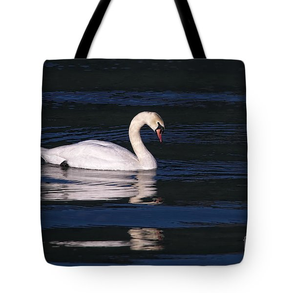 Tote Bag featuring the photograph Mute Swan  by Sharon Talson