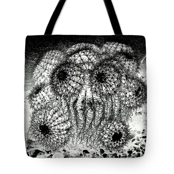 Tote Bag featuring the photograph My Anguish In The Face Of A Barrel Cactus by Antonia Citrino