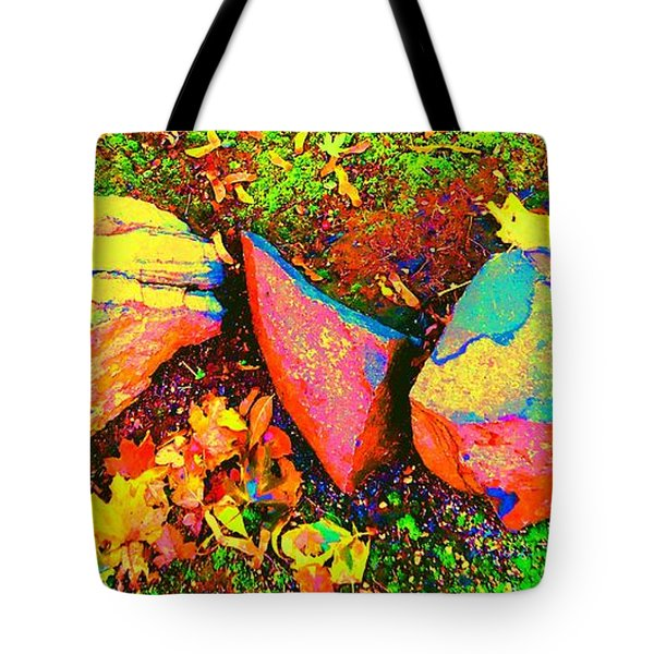 My Back Yard Rocks Tote Bag