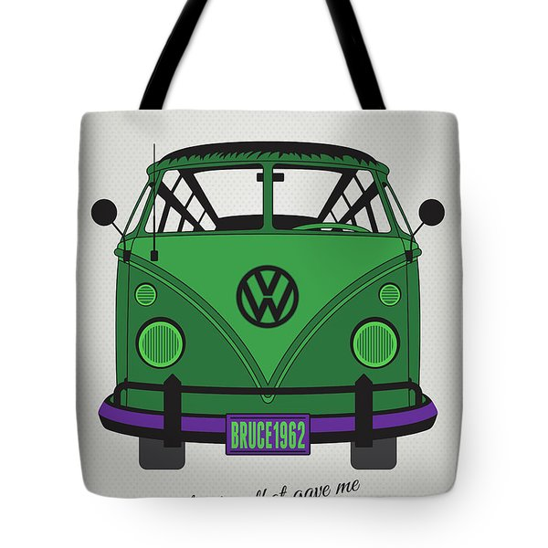 My Superhero-vw-t1-hulk Tote Bag