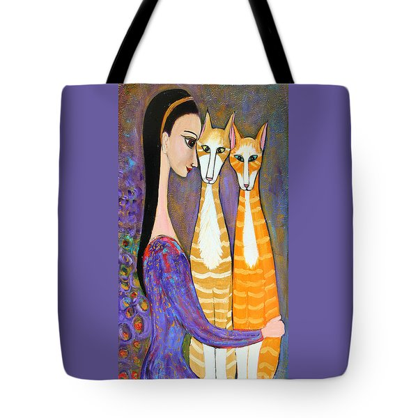 My Two Cats Tote Bag