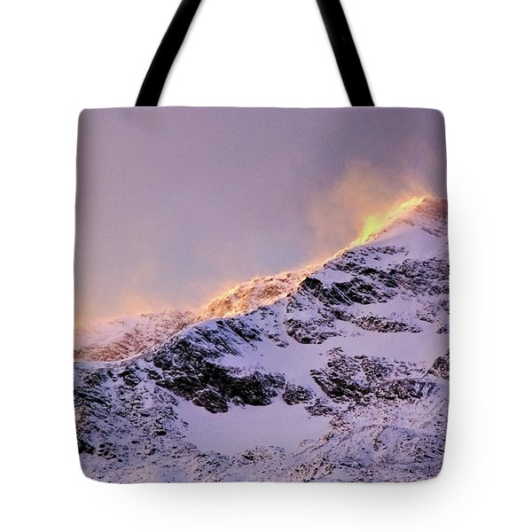 mystery mountains in North of Norway Tote Bag