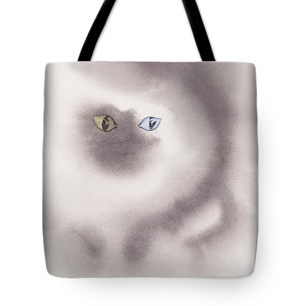 Tote Bag featuring the painting Mysty Cat by Marc Philippe Joly