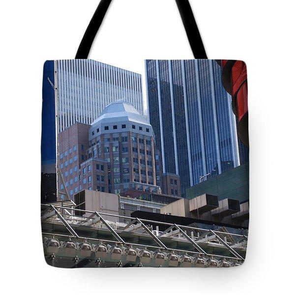 N Y C Architecture Tote Bag by Rob Hans