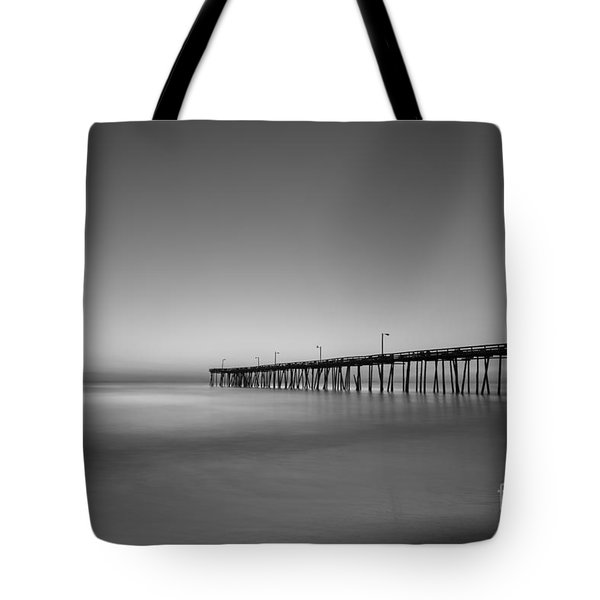 Nags Head Fishing Pier Sunrise Tote Bag