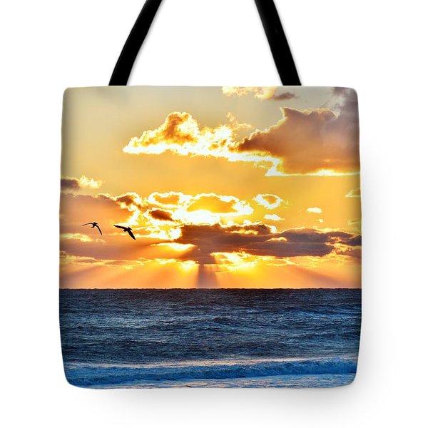 Nags Head Sunrise  Tote Bag
