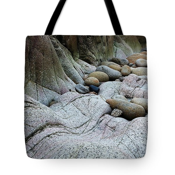 Tote Bag featuring the digital art Nanven Rocks by Julian Perry