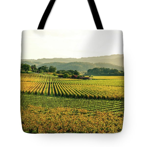 Napa Valley California In Autumn Tote Bag