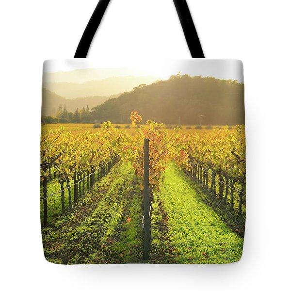 Napa Valley California Vineyard In The Fall Tote Bag