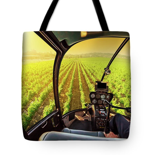 Tote Bag featuring the photograph Napa Valley Scenic Flight by Benny Marty