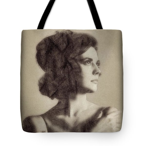 Natalie Wood, Vintage Actress By John Springfield Tote Bag