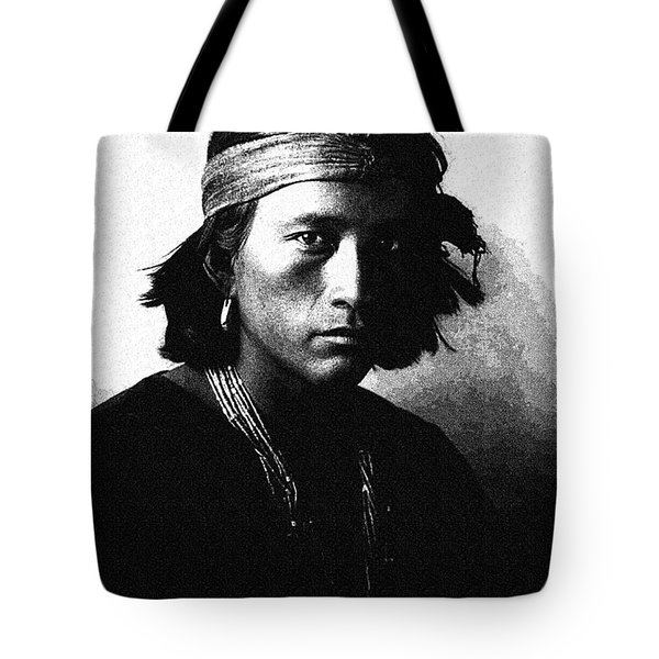 Native American Indian Portrait Profile Series -navajo Youth Poster Tote Bag