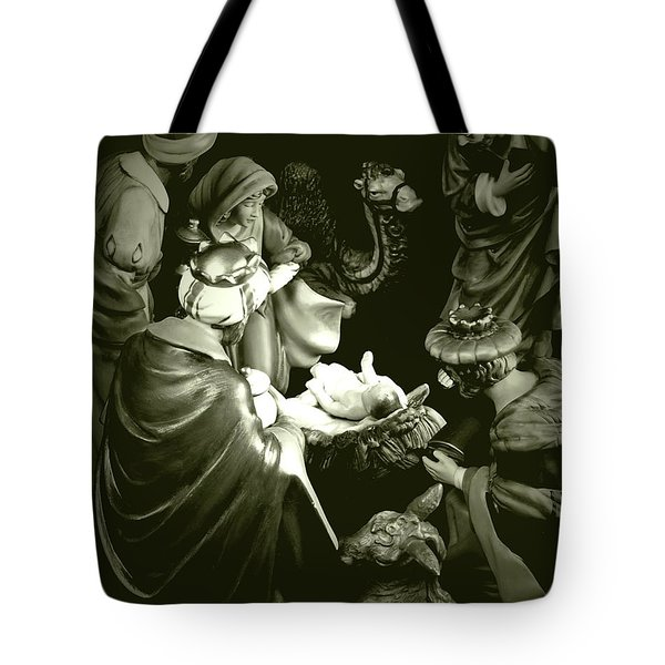 Nativity Tote Bag by Elf Evans