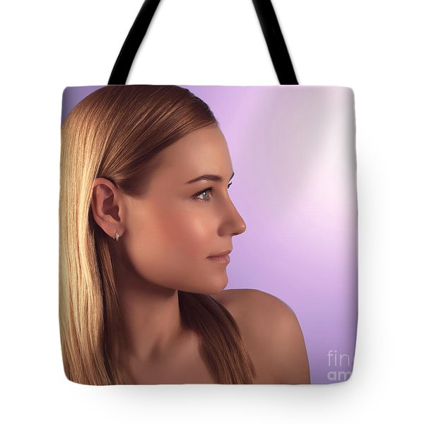 Natural Woman Portrait Tote Bag