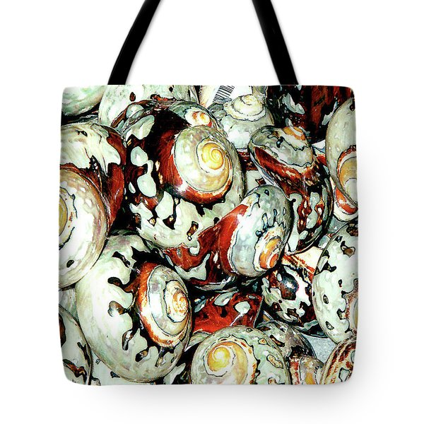 Tote Bag featuring the photograph Naturally Colored Seashells - Florida Key's Exhibit by Merton Allen