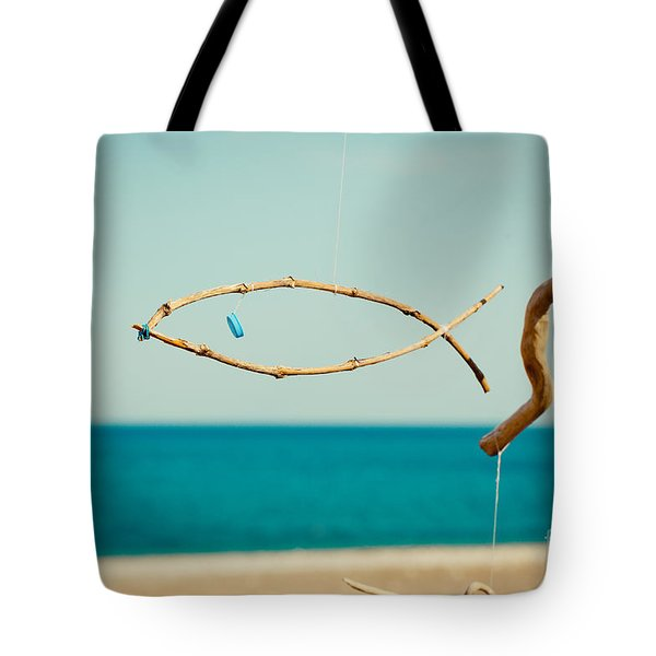 Nature Sculpture At Coast Seascape Artmif.lv Tote Bag