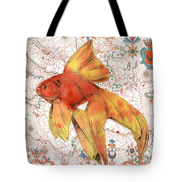 Tote Bag featuring the painting Nautical Treasures-g by Jean Plout