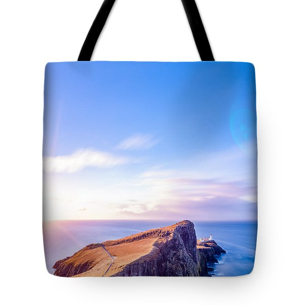 Neist Point Lighthouse At Dawn Tote Bag