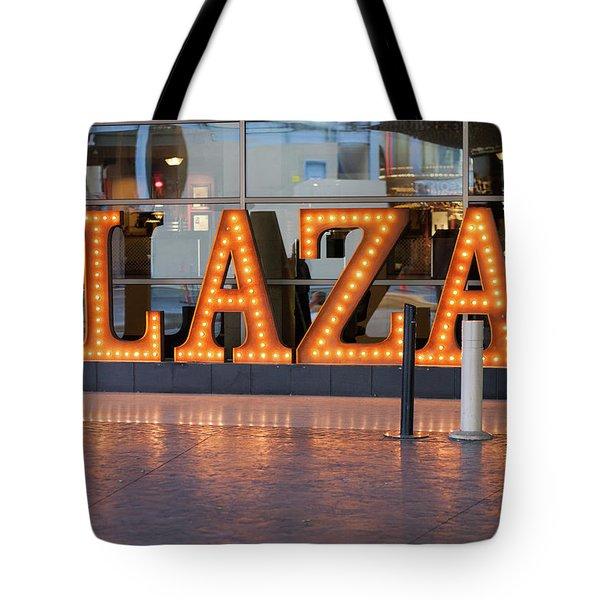 Neon Plaza Tote Bag