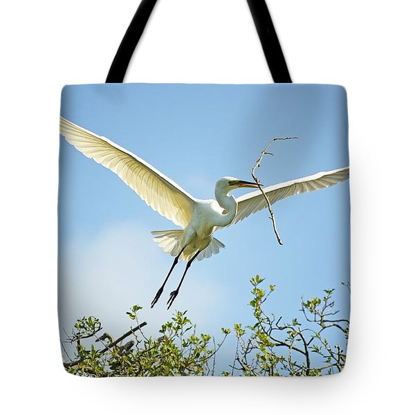 Nest Building Tote Bag