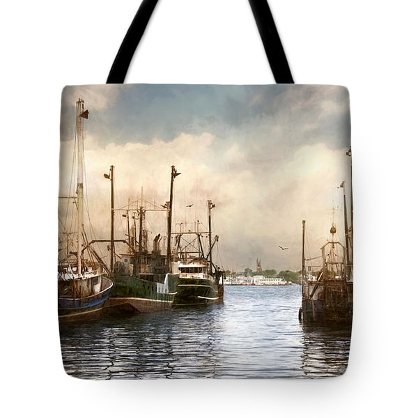 New Bedford Harbor Tote Bag by Robin-Lee Vieira