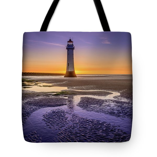 New Brighton Lighthouse Tote Bag