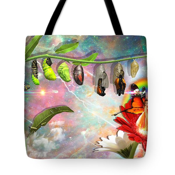 Tote Bag featuring the digital art New Life by Dolores Develde