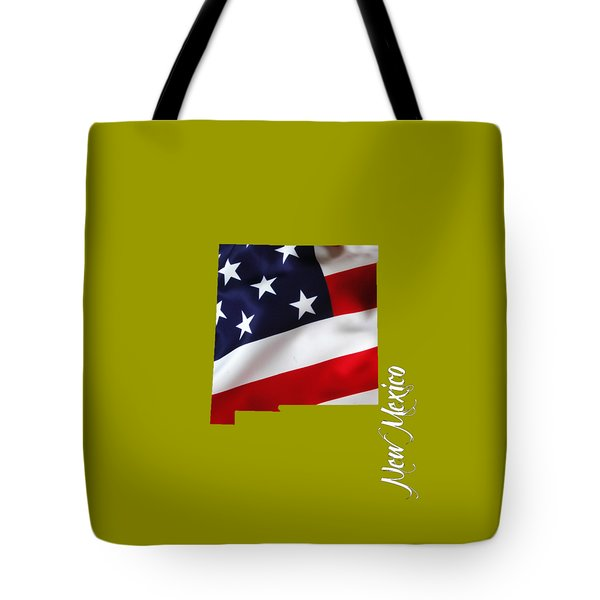 New Mexico State Map Collection Tote Bag by Marvin Blaine