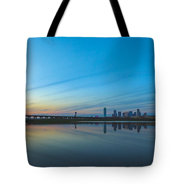 Night Begins Tote Bag