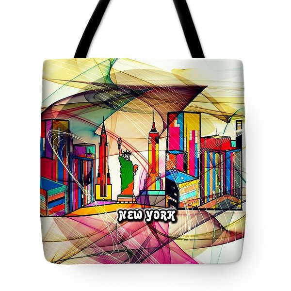New York By Nico Bielow Tote Bag by Nico Bielow