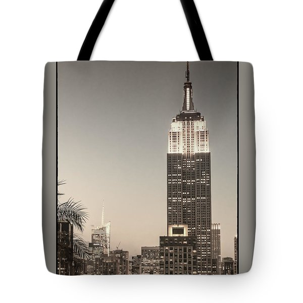 Tote Bag featuring the photograph New York Empire State Building by Juergen Held